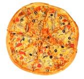 Pizza com fungo Fotografia de Stock