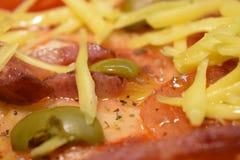 Pizza com tomates Foto de Stock