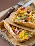 Pizza com vegetais Imagens de Stock Royalty Free