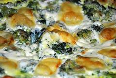 Pizza com vegetais e queijo Fotos de Stock Royalty Free