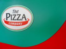 The Pizza company logo. March 13`2017 :The Pizza company logo. The Pizza Company has been the pizza market leader in the dine-in, delivery and takeaway segments Royalty Free Stock Images