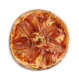 Pizza con el jamón y el queso Imagen de archivo libre de regalías