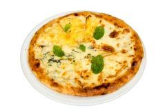 Pizza con formaggio Fotografia Stock Libera da Diritti