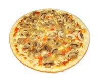 Pizza con i funghi Immagini Stock