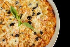 Pizza con i salmoni Fotografia Stock Libera da Diritti