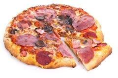 Pizza con la fetta Fotografia Stock Libera da Diritti