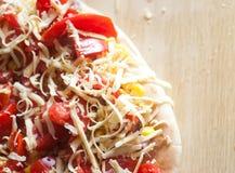 Pizza con las patatas Imagen de archivo