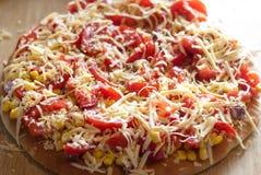 Pizza con las patatas Fotografía de archivo
