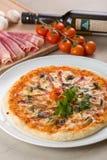 Pizza con las setas Imagenes de archivo