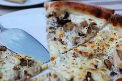 Pizza con las setas del queso y del porcini Foto de archivo