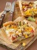 Pizza con le verdure Fotografia Stock Libera da Diritti