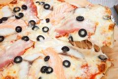 Pizza con le verdure ed altra Immagine Stock Libera da Diritti