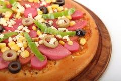 Pizza con los vehículos Fotografía de archivo libre de regalías