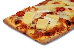 Pizza con queso Foto de archivo libre de regalías