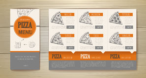 Pizza concept design. Corporate identity. Document template Royalty Free Stock Photo