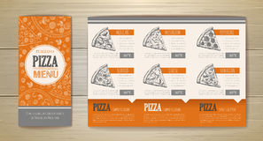 Pizza concept design. Corporate identity. Document template Stock Photos
