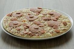 Pizza congelada Fotografía de archivo libre de regalías