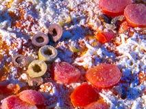 Pizza congelada Imagens de Stock