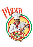 Pizza Cook Royalty Free Stock Image