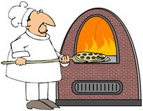 Pizza Cook Stock Image