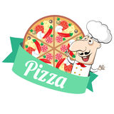 Pizza and cook Royalty Free Stock Images