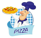 Pizza cook Royalty Free Stock Photo