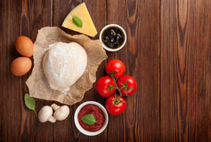Pizza cooking ingredients Stock Photo