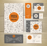 Pizza corporate idedtity, document template design Royalty Free Stock Image