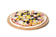 Pizza crua Fotografia de Stock Royalty Free