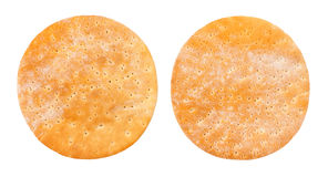 Pizza crust. Empty pizza pita crust isolated on white Royalty Free Stock Photo