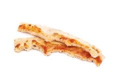 Pizza crust isolated Stock Photo