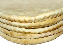 Pizza crusts, close-up Royalty Free Stock Images