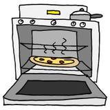 Pizza cuite au four par four illustration libre de droits