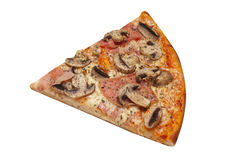 Pizza cut. Isolated on white background Stock Photo