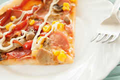 Pizza cut food baked and served Royalty Free Stock Image