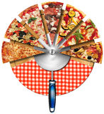 Pizza on the Cutting Board Stock Image