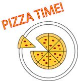 Pizza czas Obrazy Royalty Free