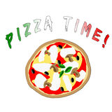 pizza czas Obrazy Stock