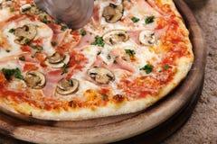 Pizza délicieuse Photographie stock libre de droits