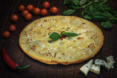 Pizza délicieuse Photographie stock