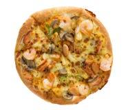 Pizza délicieuse avec des fruits de mer Image libre de droits