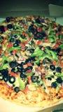 Pizza délicieuse de veggie photographie stock