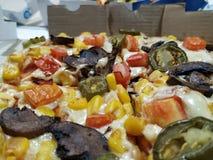 Pizza délicieuse des dominos image libre de droits