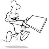 Pizza d'aliments de préparation rapide illustration stock