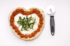 Pizza d'amour Photos libres de droits