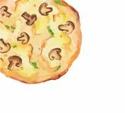 pizza d'aquarelle Photographie stock libre de droits
