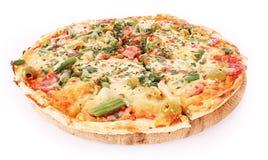 Pizza d'isolement photo stock
