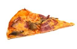 Pizza d'isolement image libre de droits