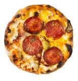 Pizza d'isolement photographie stock libre de droits