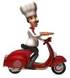 pizza d'Italien de chef illustration de vecteur